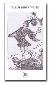ロ・スカラベオ社のタロットカード RWSの五ヵ国語説明書