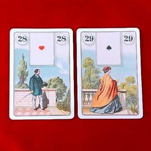 ルノルマンカードの紳士と淑女のカード