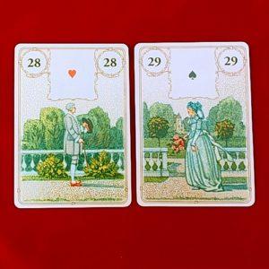 ゴールデン・ルノルマンカードの紳士と淑女のカード